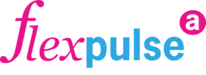 Logo Flexpulse Rijschoolsoftware - Wit