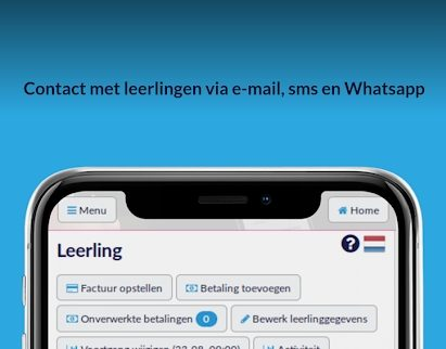 PlanRijles contact met leerlingen via e-mail,sms en whatsApp